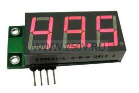 Миниатюрный цифровой встраиваемый амперметр  SAH0012UB-50 (до 50А) красный